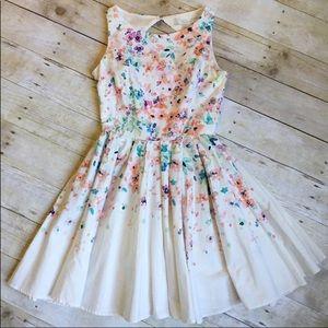 LC Lauren Conrad Dresses - LC Lauren Conrad Watercolor Fit & Flare Dress